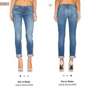 Rag & bone The Dre slim fit boyfriend jeans sz 24